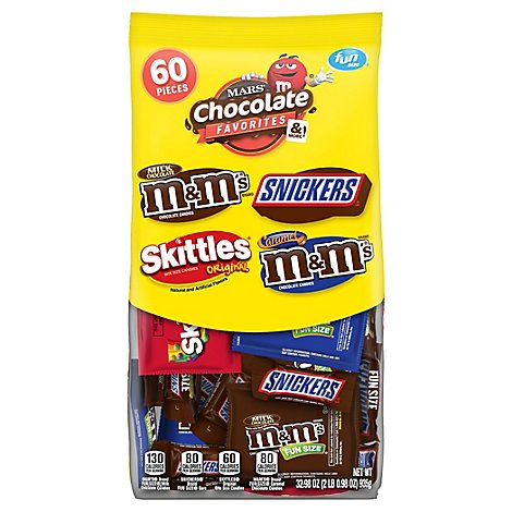 Mars Chocolate Favorites Fun Size 60 Count - 32.98 Oz