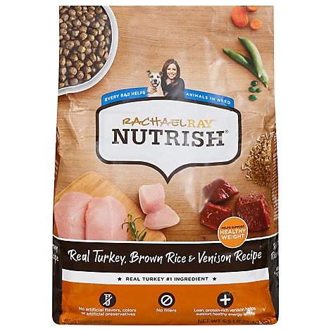 Rachael Ray Nutrish Food for Dogs Super Premium Turkey Brown Rice & Venison Recipe Bag - 5.5 Lb
