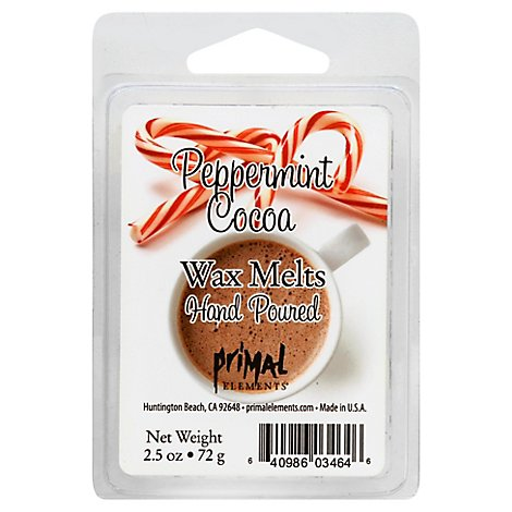 Primal Elements Wax Melt Peppermint Cocoa - 2.5 Oz