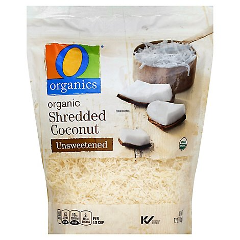 O Organics Organic Coconut Shredded Unsweetened - 12 Oz