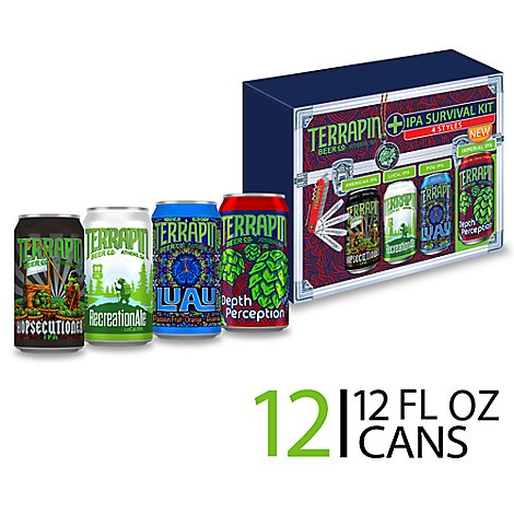 Terrapin Beer IPA Survival Kit Variety Pack Cans - 12-12 Fl. Oz.