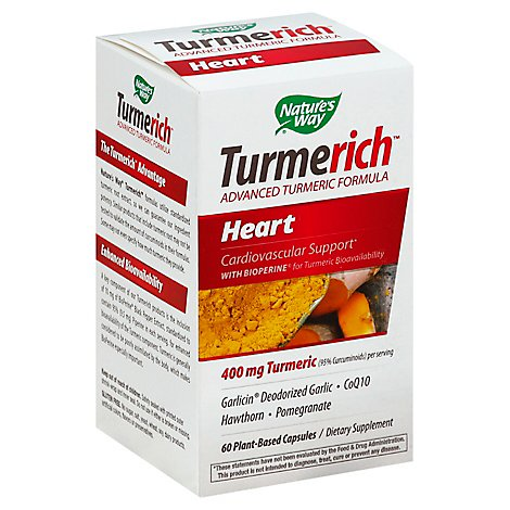 Natures Way Turmerich Heart Caps - 60 Count