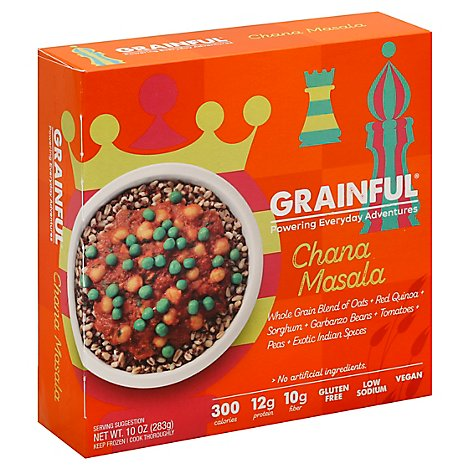 Grainfull Frozen Entree Chana Mslal - 10 Oz