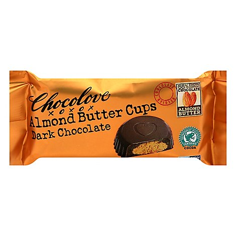 Almond Butter Cups Dark Chocolate 2 Cups - 1.2 Oz