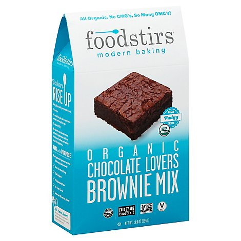 Foodstirs Modern Baking Organic Brownie Mix Chocolate Lovers - 13.9 Oz