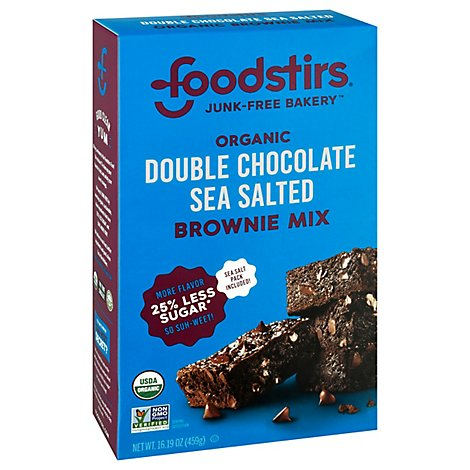 Foodstirs Modern Baking Organic Brownie Mix Brooklyn Salted Chocolate Chip - 17.9 Oz