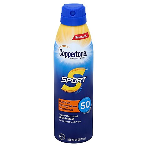 Coppertone Sport Spray Spf50 - 5.5 Fl. Oz.
