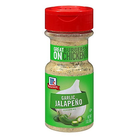 McCormick Seasoning Garlic Jalapeno - 3 Oz