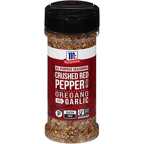 McCormick Seasoning All Purpose Crushed Red Pepper With Oregano And Garlic - 3.62 Oz