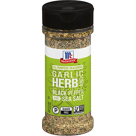 McCormick All Purpose Seasoning Garlic Herb Black Pepper And Sea Salt - 4.37 Oz
