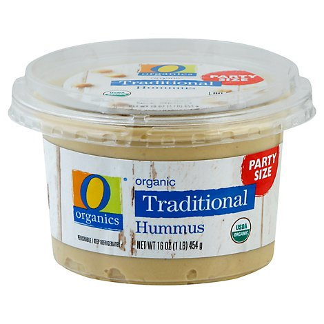 O Organic Traditional Hummus Party Size - 16 oz.