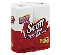 Scott Paper Towel Choose-A-Sheet Mega Roll 1-Ply Wrapper - 2 Roll