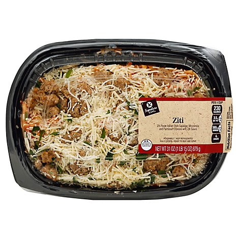 Signature Cafe Ziti Pasta Family Size - 31 Oz
