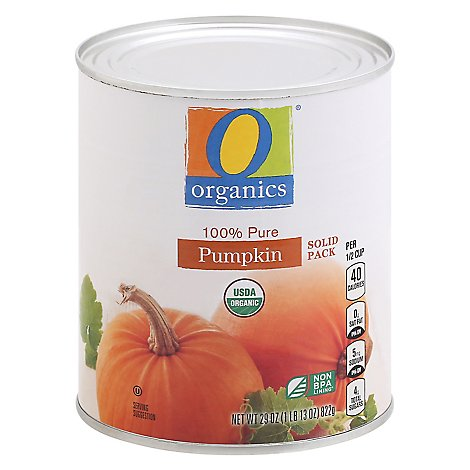 O Organics Organic Pumpkin Solid Pack Pure 100 Percent - 29 Oz