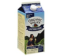 Organic Valley Organic Milk Ultra Pasteurized Reduced Fat 2% Lactose Free - 64 Fl. Oz.