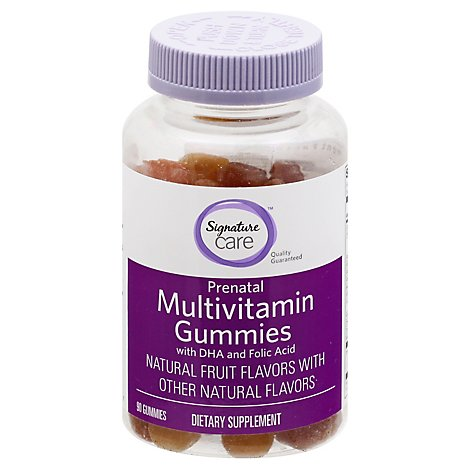 Signature Care Gummy Multivitamin Prenatal With DHA & Folic Acid Dietary Supplement - 90 Count