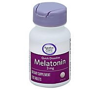 Signature Care Melatonin 3mg Quick Dissolve Dietary Supplement Tablet - 120 Count