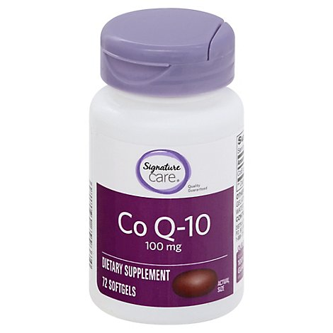Signature Care Co Q10 100mg Dietary Supplement Softgel - 72 Count