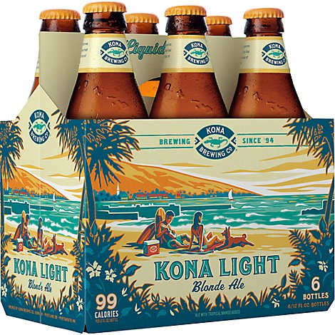 Kona Brewing Co Kanaha Beer Blonde Ale - 6-12 Fl. Oz.