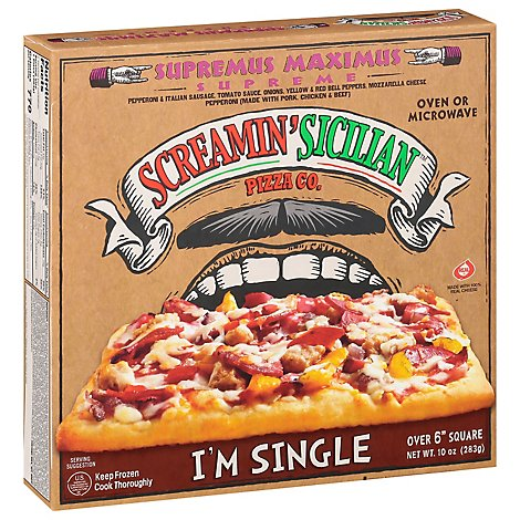 Palermos Pizza Single Serve Supreme Frozen - 0.625 Lb