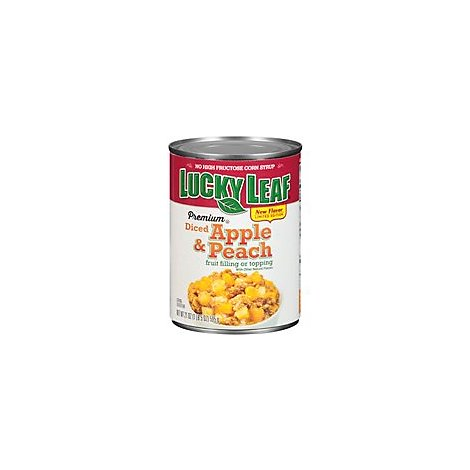 Lucky Leaf Fruit Filling Or Topping Premium Apple & Peach Diced - 21 Oz