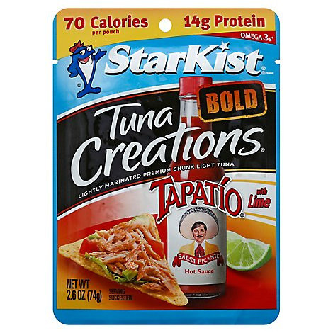 StarKist Tuna Creations Bold Tuna Chunk Light Tapatio With Lime - 2.6 Oz