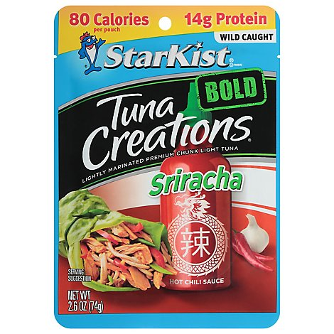 StarKist Tuna Creations Bold Tuna Chunk Light Sriracha - 2.6 Oz