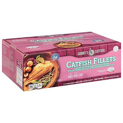 Guidrys Catfish Fillet Individualy Quick Frozen - 4 Lb