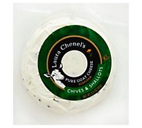 Laura Chenel Goat Cheese Medallion Chive & Shallots - 3.5 Oz