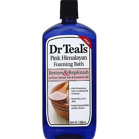 Dr Teals Pnk Hmlyn Foam Bath - 34 Fl. Oz.