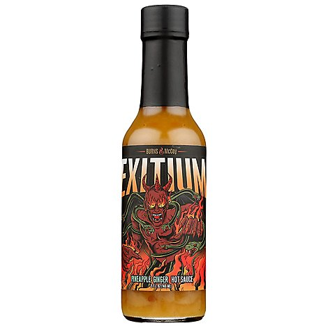 Burns and McCoy Hot Sauce Exitium Pineapple Ginger - 5 Fl. Oz.