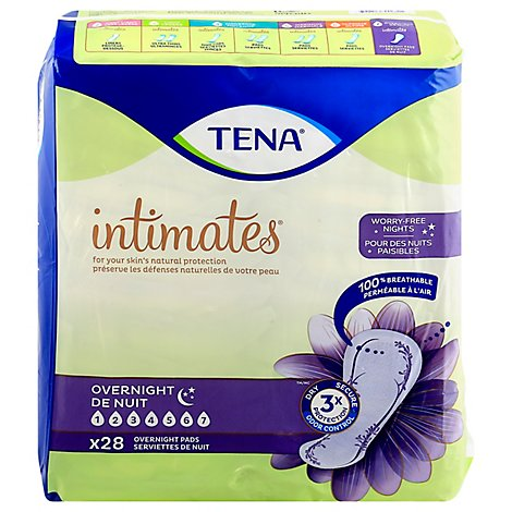 TENA Intimates Pads Overnight - 28 Count