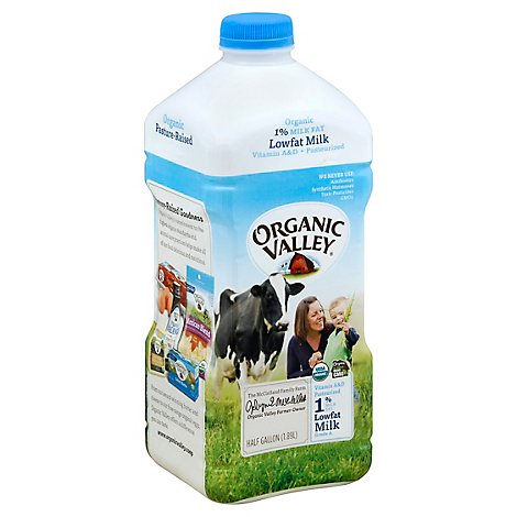 Organic Valley Organic Milk 1% Low fat Milk - Half Gallon