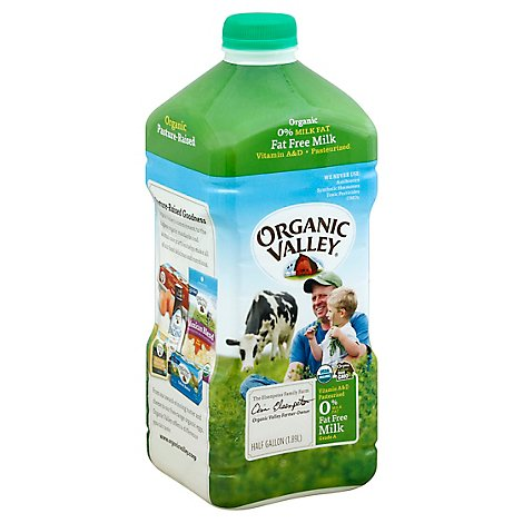Organic Valley Fat Free Milk - Half Gallon