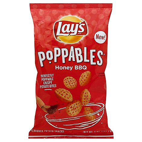 Lays Poppables Honey Bbq Potato Snacks Plastic Bag - 5 Oz