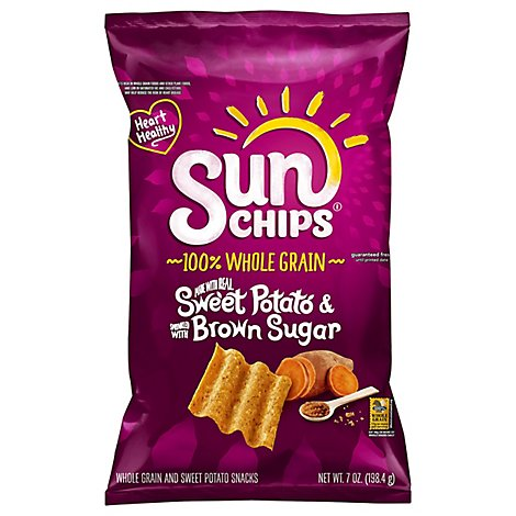 SunChips Snacks Whole Grain Sweet Potato With Brown Sugar - 7 Oz