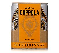Coppola Chardonnay Diamond Can Wine - 4-250 Ml