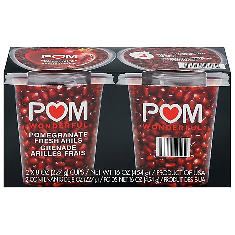 POM Wonderful Pom Poms Pomegranate Fresh Arils 8 Oz - 2 Count