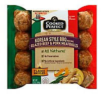 Cooked Perfect Meatballs Beef & Pork Korean Style BBQ Glazed - 12 Oz