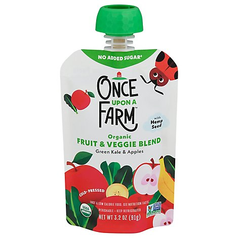Once Upon Green Kale Apple 7 Plus Mnths - 3.2 Oz