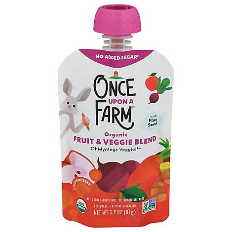 Once Upon Veggie Ohmymega 7 Plus Mnths - 3.2 Oz