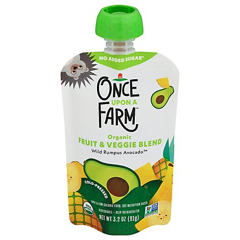 Once Upon A Farm Wild Rumpus Avocado 7 Plus Months - 3.2 Oz