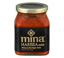 Mina Sauce Harissa Moroccan Red Pepper Mild - 10 Oz