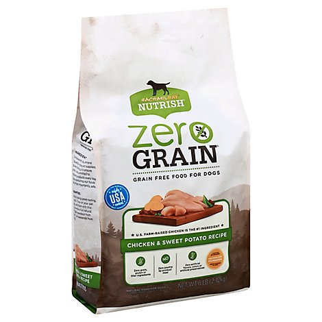 Rachael Ray Nutrish Zero Grain Food for Dogs Chicken & Sweet Potato Recipe Bag - 6 Lb