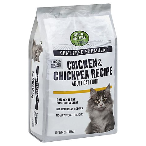 Open Nature Cat Food Adult Grain Free Chicken & Chickpea Recipe Bag - 4 Lb