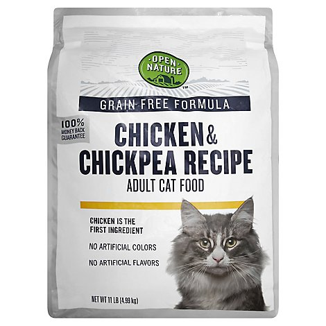 Open Nature Cat Food Adult Grain Free Chicken & Chickpea Recipe - 11 Lb