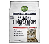 Open Nature Cat Food Adult Grain Free Salmon & Chickpea Recipe - 11 Lb