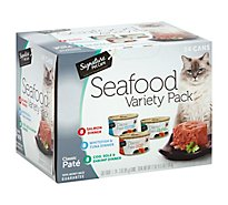 Signature Pet Care Cat Food Classic Pate Seafood Variety Pack Box - 24-3 Oz