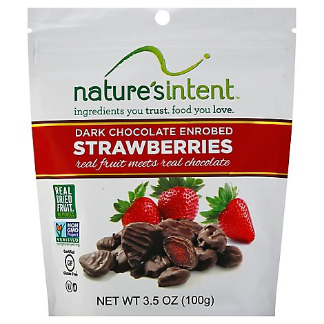 Strawberries Dried Dark Chocolate Enrobed - 3.5 Oz