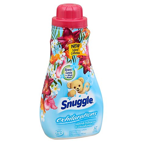 Snuggle Exhilarations Fabric Softener Liquid Island Hibiscus & Rainflower Bottle - 32 Fl. Oz.